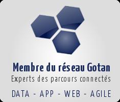 Membre du réseau de partenaires Gotan - Data - App - Web - Agile